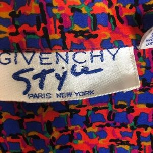 Givenchy Style vintage multi-color button up shirt